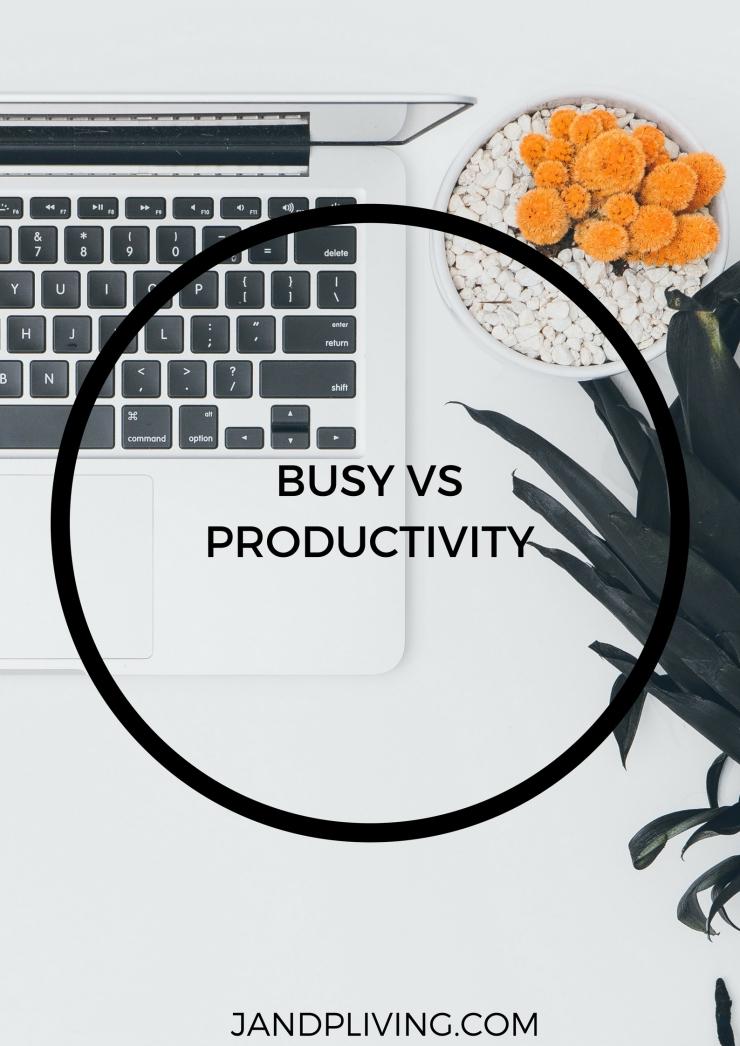 BUSY VS PRODUCTIVITY SC